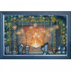 Набор для вышивки крестом и бисером Рождество вдвоем