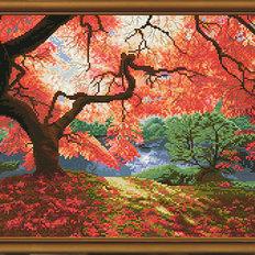 Набор для вышивки крестом Осенние лучи
