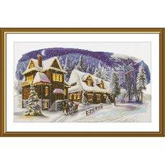 фото: картина для вышивки крестом, В канун Рождества