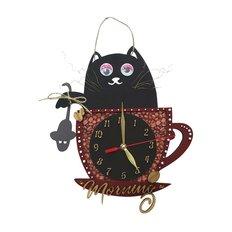 фото: часы для вышивки в смешанной технике Кофейное утро