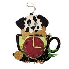 фото: часы для вышивки в смешанной технике Время чая