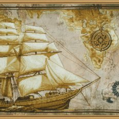 Набор для вышивки крестом Морское путешествие