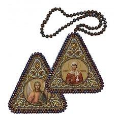 изображение: двусторонняя икона-оберег для вышивания бисером