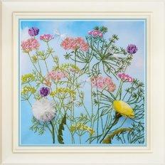 фото: картина для вышивки нитками полевые цветы и травы