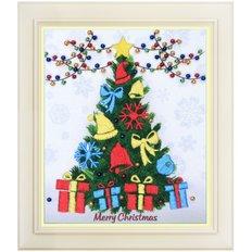 Набор для вышивки нитками в стиле Rococo Счастливого рождества!
