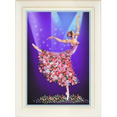 фото: картина для вышивки нитками, балерина