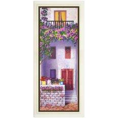 Набор для вышивки нитками в стиле Rococo Цветущий балкон 2