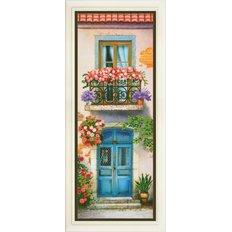 Набор для вышивки нитками в стиле Rococo Цветущий балкон 3