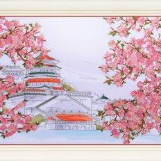 Набор для вышивки нитками в стиле Rococo Япония