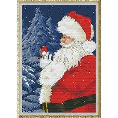 Набор для вышивки крестом Санта, приходи!