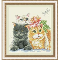 фото: картина для вышивки крестиком, Котята