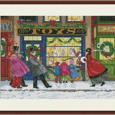 фото: картина, вышитая крестом Подарки к Рождеству