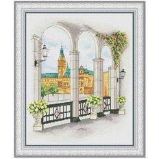 фото: картина для вышивки крестиком городской пейзаж
