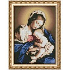 фото: картина для вышивки крестиком Мадонна с младенцем