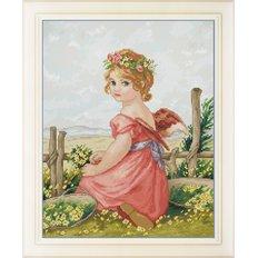 фото: картина для вышивки крестиком маленький ангел