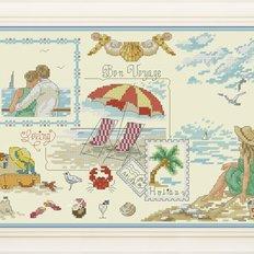 фото: картина для вышивки крестиком летние иллюстрации