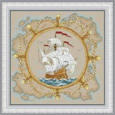 фото: картина для вышивки крестом парусник