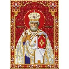 изображение: икона для вышивки бисером, Святой Николай Чудотворец