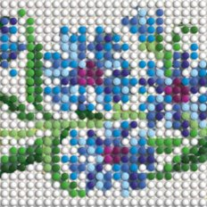 фото: декоративная лента для вышивки бисером Васильки