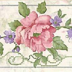 фото: декоративная лента для вышивки бисером Летние цветы