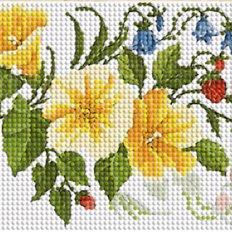 фото: декоративная лента для вышивки бисером Земляника