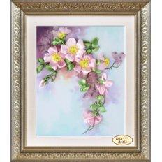 фото: картина для вышивки лентами Яблоневый цвет