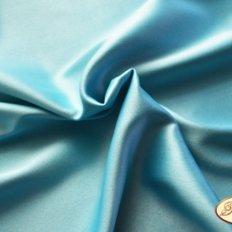 Ткань для задника подушки, бирюзовый креп-сатин