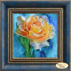 фото: картина для вышивки бисером с аппликацией Желтая роза