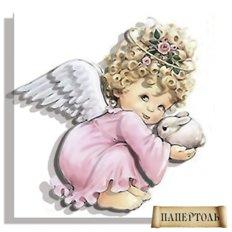 фото: объёмная картина из бумаги папертоль ангел