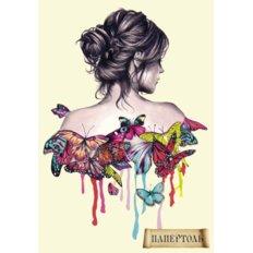 Набор папертоль Девушка в бабочках