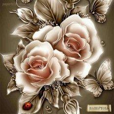 Набор папертоль Карамельные розы