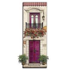 фото: картина папертоль домик с малиновой дверью