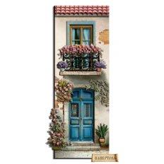 фото: картина папертоль домик с голубой дверью