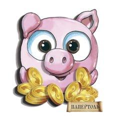 фото: картина папертоль Свинка Богатство