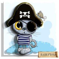 фото: картина папертоль Кот-Пират