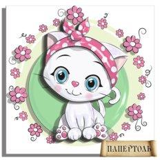 фото: картина папертоль Кошка-белоснежка