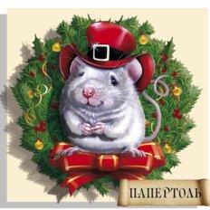 фото: картина в технике папертоль Мышка на счастье