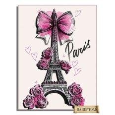 фото: картина в технике папертоль Из Парижа с любовью