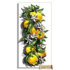 фото: картина в технике папертоль Сочные лимоны