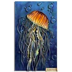фото: картина в технике папертоль Медуза в пузырьках