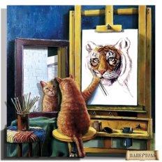 фото: картина в технике папертоль Автопортрет