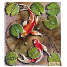 фото: картина в технике папертоль Карпы