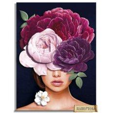 фото: картина в технике папертоль Девушки-цветы. Загадка
