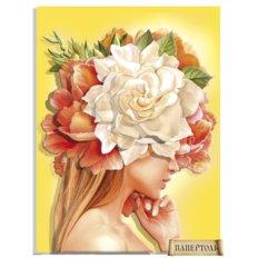 фото: картина в технике папертоль Девушки-цветы. Солнце