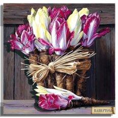 фото: картина в технике папертоль Букет капусты