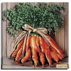 фото: картина в технике папертоль Букет моркови