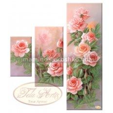 Схема для вышивки бисером Розовый сад, триптих