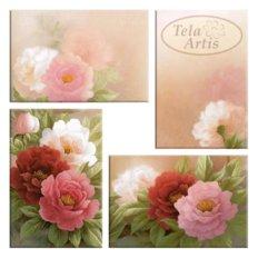 фото: модульная картина для вышивки бисером, нежные розы