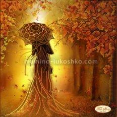 Схема для вышивки бисером Девушка Осень