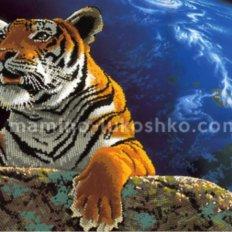Схема для вышивки бисером Амурский тигр. Спасем планету